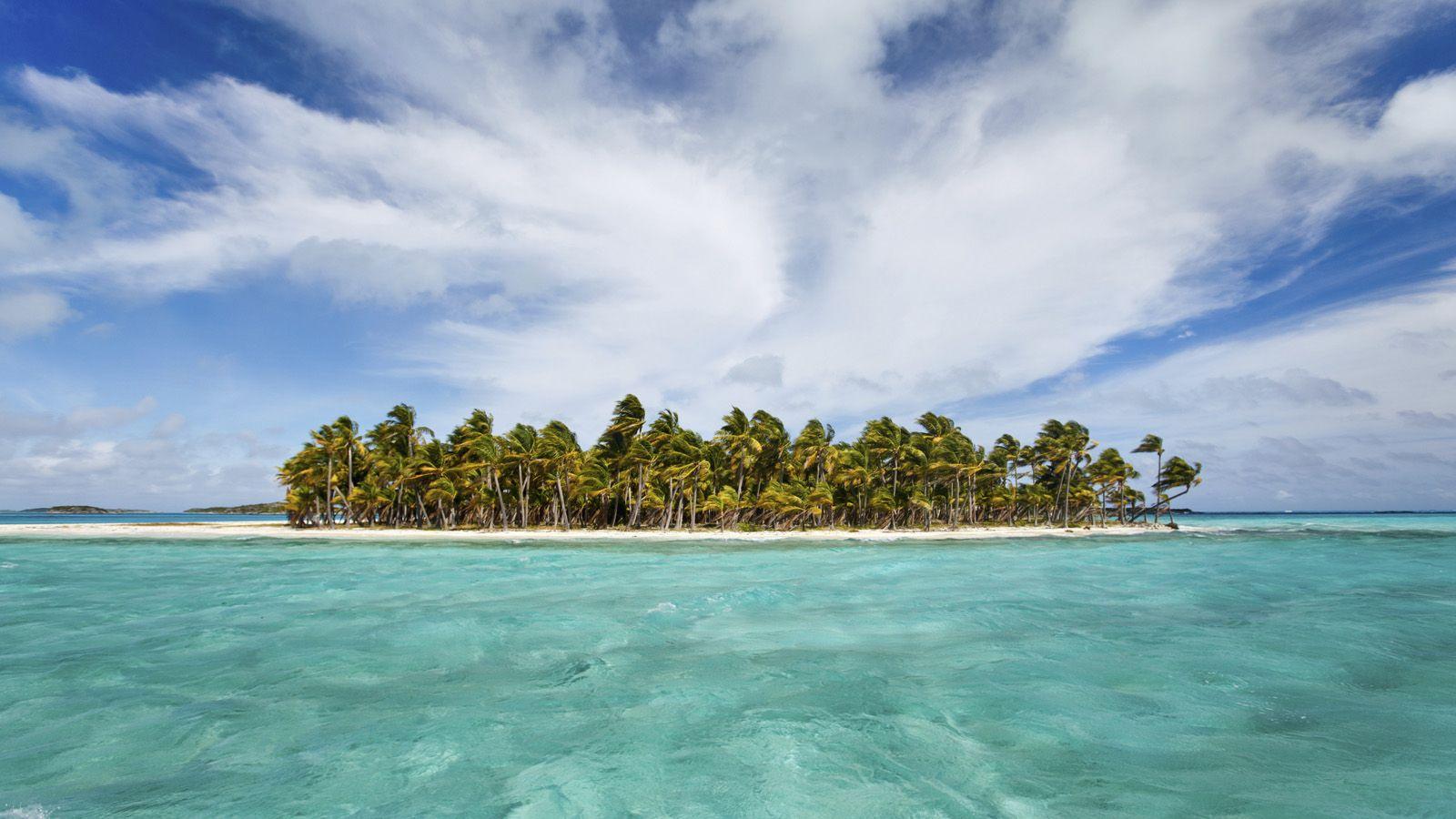 An island in the Exumas archipelago of the Bahamas