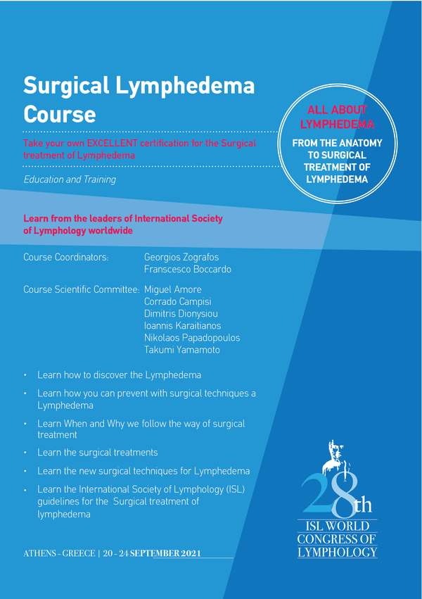 Surgical Lymphedema Course